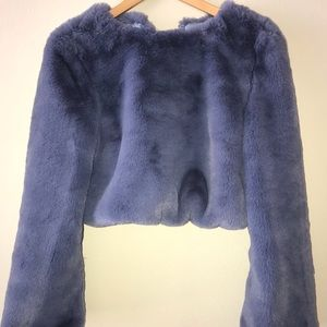 Lovers and Friends cropped faux fur pullover